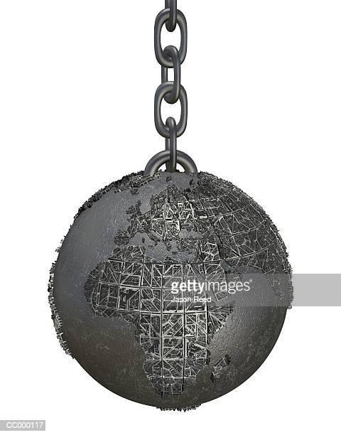 Globe as a Ball and Chain