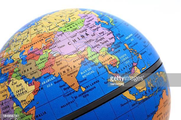 mondo asia - mappamondo foto e immagini stock