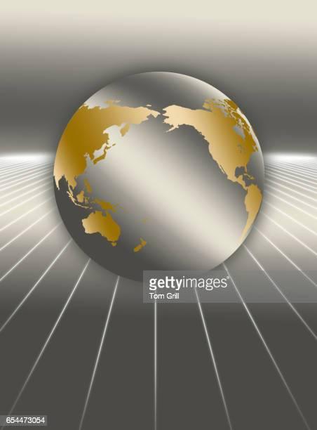 Globe atop Lines
