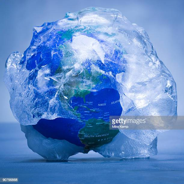 globe covered in ice