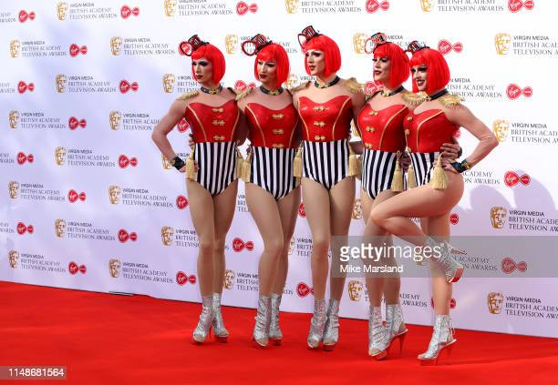 Globe Girls attend the Virgin Media British Academy Television Awards 2019 at The Royal Festival Hall on May 12 2019 in London England