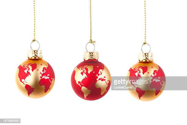 Globe glass baubles