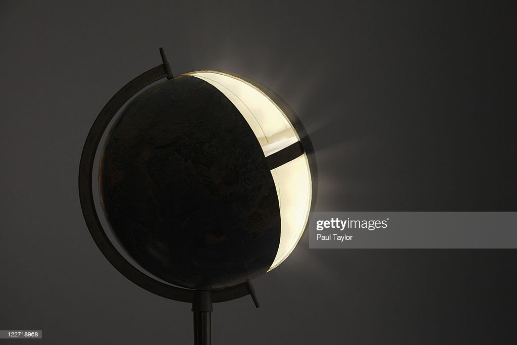 Globe Glowing from Within : Stock Photo