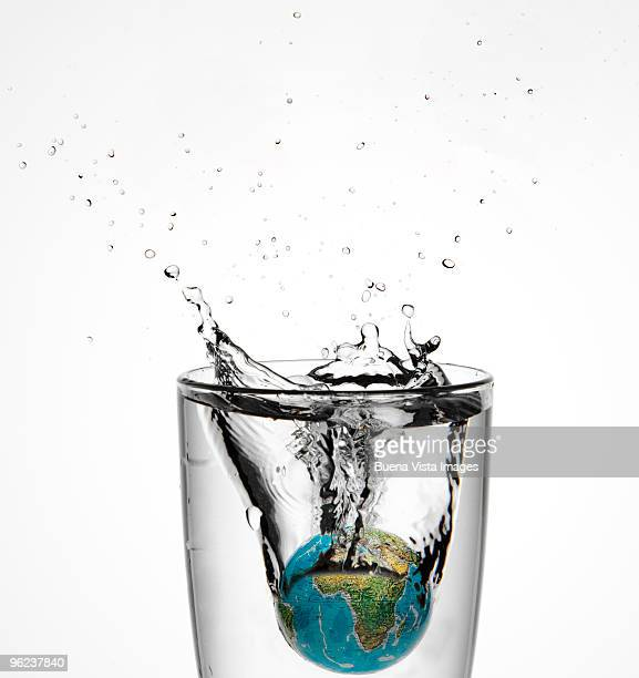 Globe in a glass of water