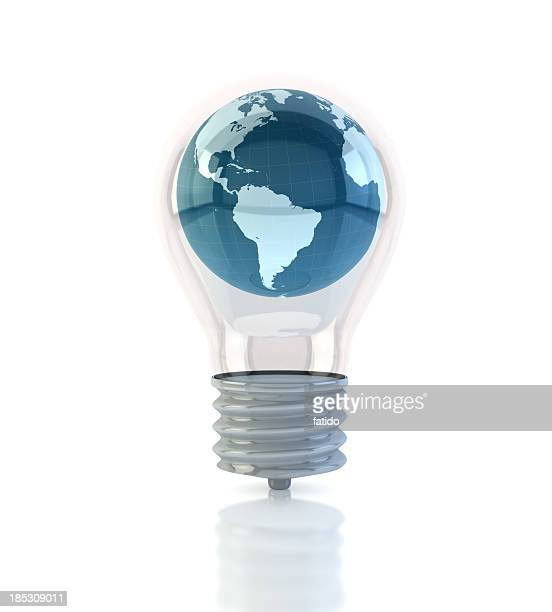 globe in light bulb - clip art stock pictures, royalty-free photos & images