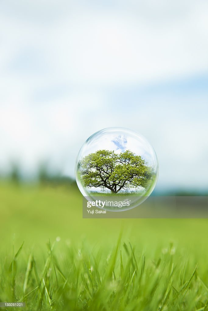 globe  in the air : Stock Photo