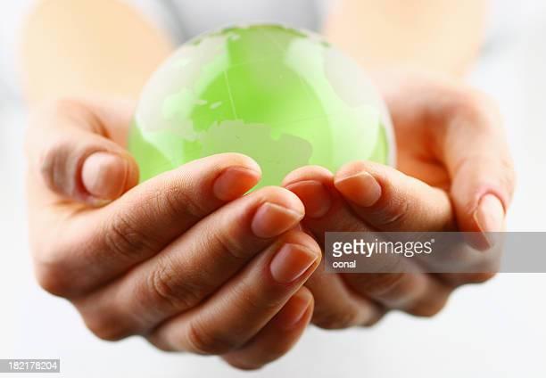 Globe in the palm