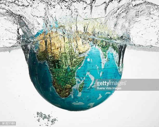 Globe in water.