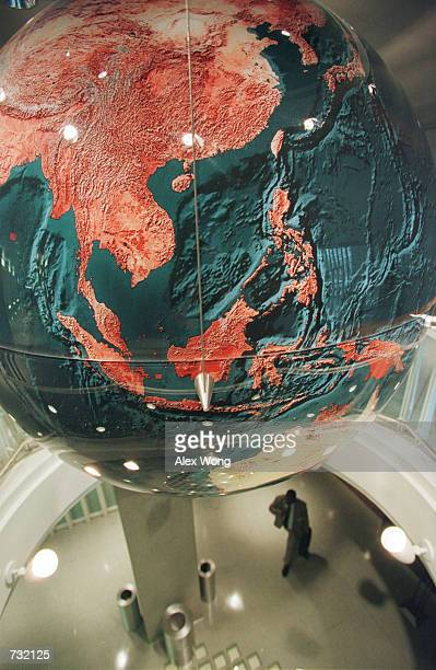 A globe is hung September 18 2000 in the World Bank headquarters main complex in Washington