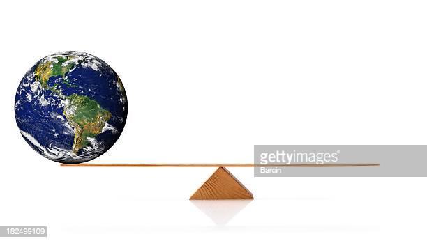 Globe on scale