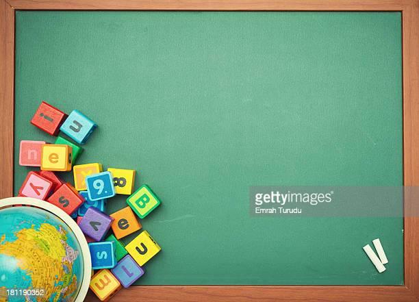 Globe on the chalkboard