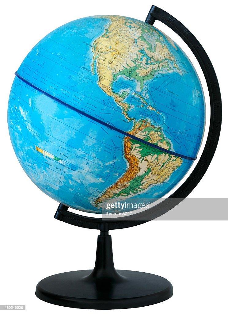 Globe. Physical map : Stock Photo
