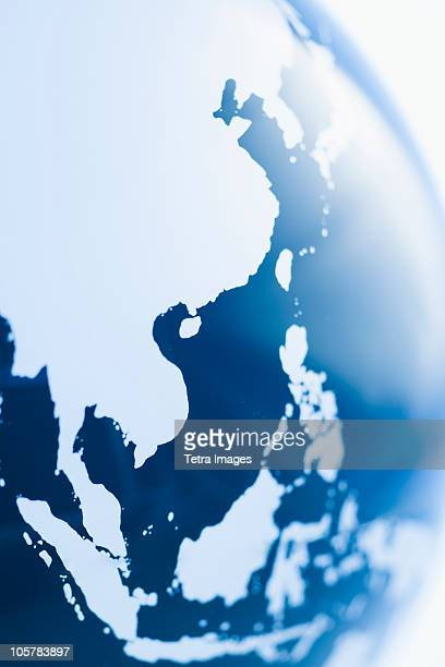 globe - asia map stock pictures, royalty-free photos & images