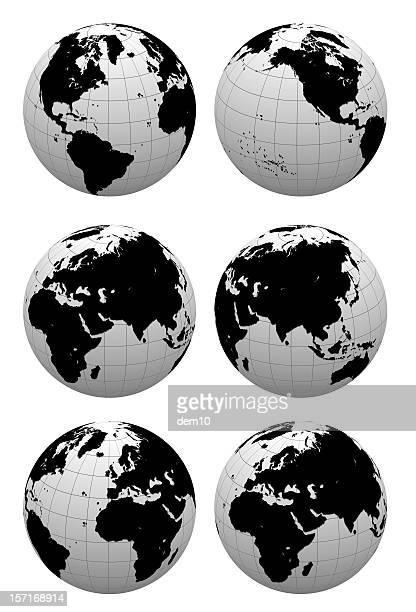 3 D Globe (Tracé de détourage);