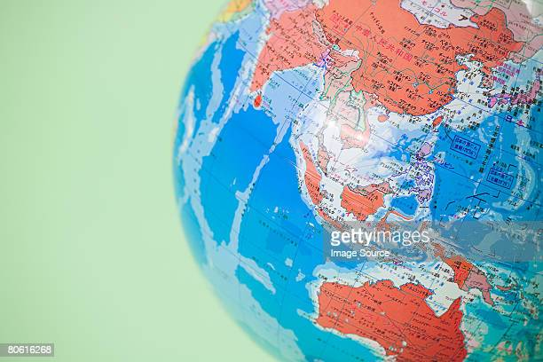globe - asia pac stock pictures, royalty-free photos & images