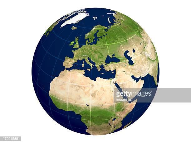 Globe シリーズ:ヨーロッパ/物理的に透明なライン
