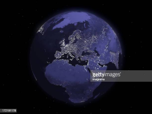 Globe Series: Night - Europe