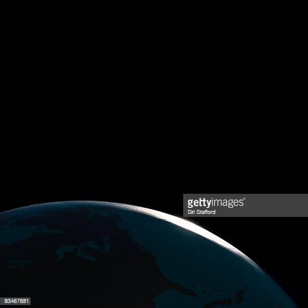 Globe shot to look like Earth