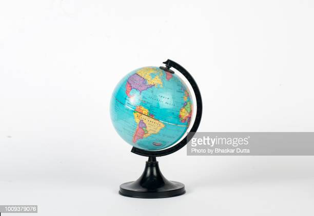 globe showing america - world map stock photos and pictures