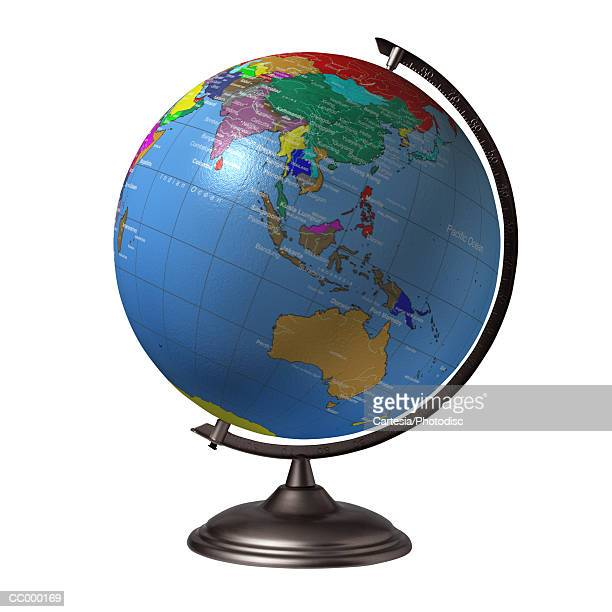 Globe Showing Australia and Asia