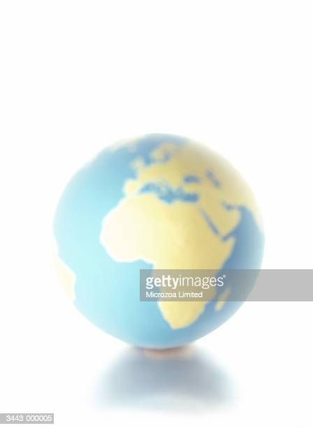 globe showing europe - microzoa stock pictures, royalty-free photos & images