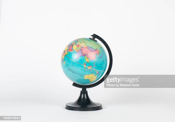 globe showing india and asia - one world stock pictures, royalty-free photos & images