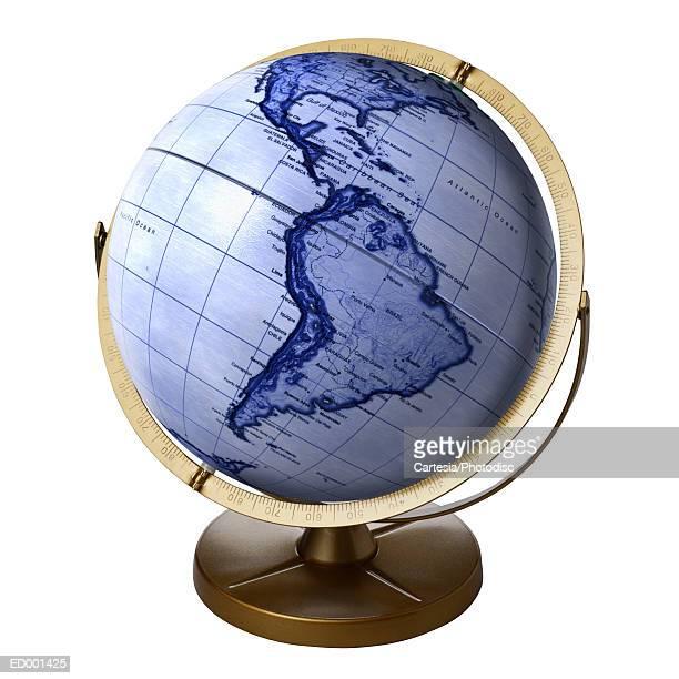 Globe Showing South America