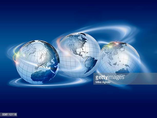 globe spinning - mike agliolo stock photos and pictures