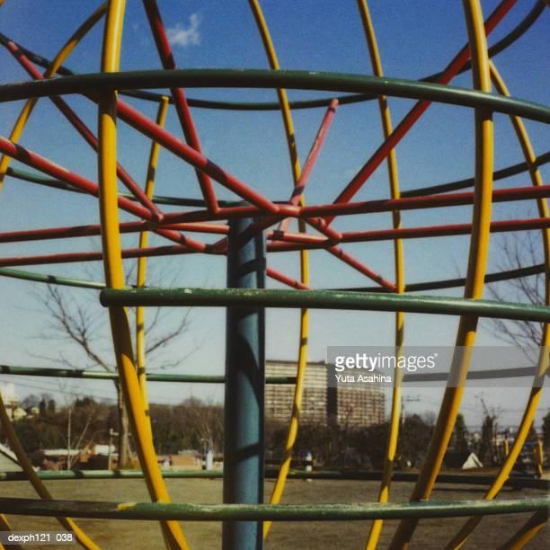 Globe structure in children's playground