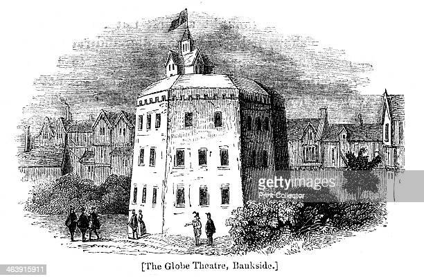 Globe Theatre Bankside Southwark London as it appeared c1598 Wood engraving after contemporary drawing The original Globe Theatre opened in 1598 and...