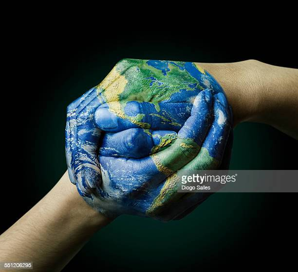 globe union - world map stock photos and pictures