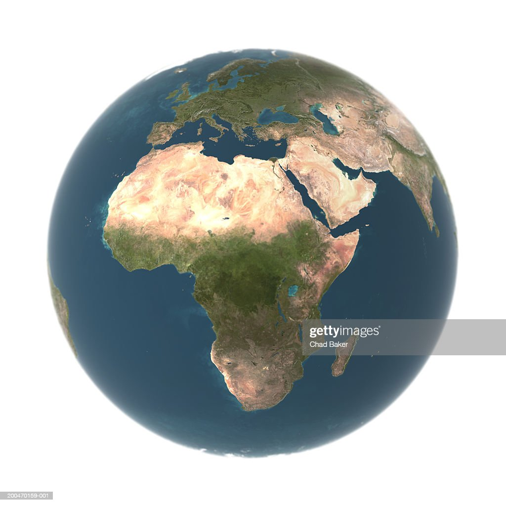 Globe with Africa prominent (Digital) : Stock Photo