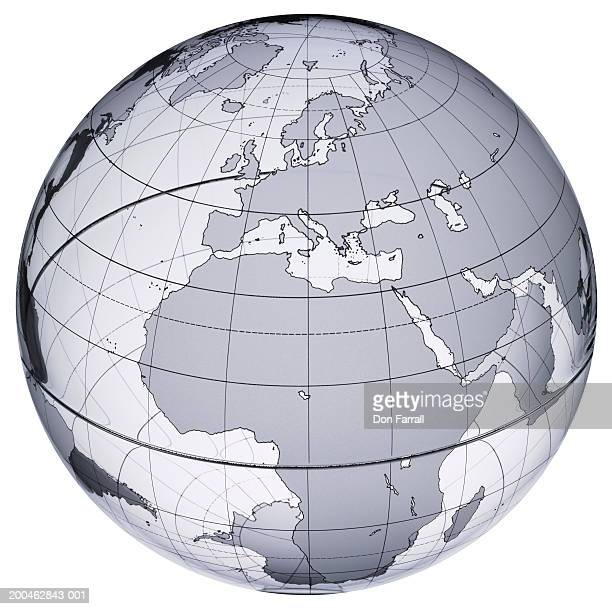Globe with Europe and Africa prominent
