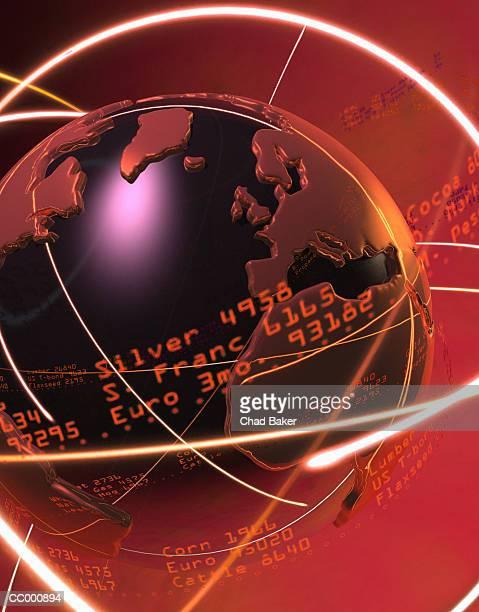 Globe with Ticker Tape