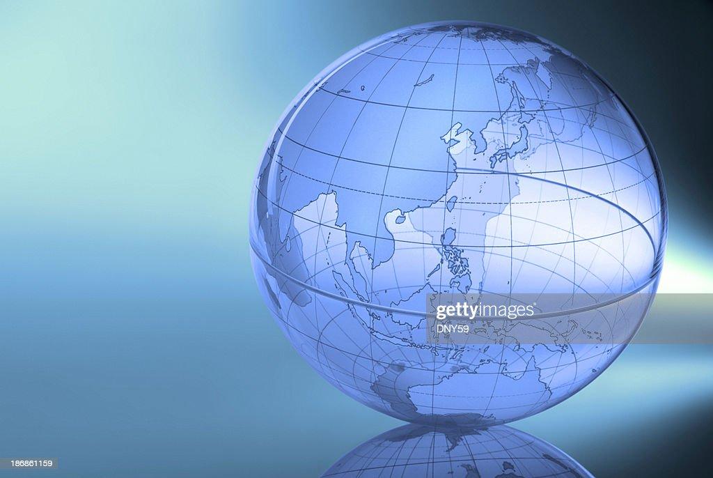 Globe-Eastern Asia & Western Pacific : Stock Photo