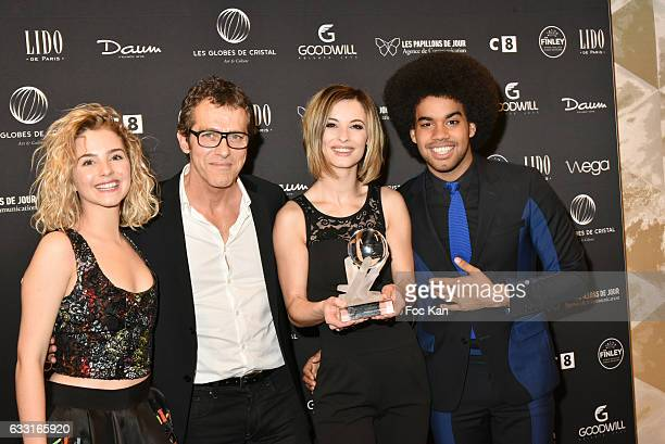 Globes de cristal Awarded Team Charlotte Bizjak Laurent Hennequin Corentine Collier and Gwendal Marimoutou from Resiste Opera Rock from France Gall...