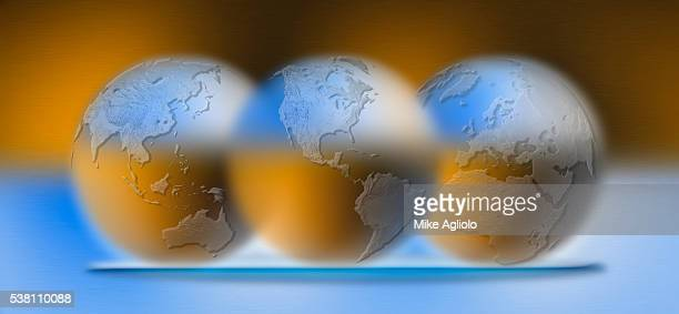 globes on platter - mike agliolo stock photos and pictures