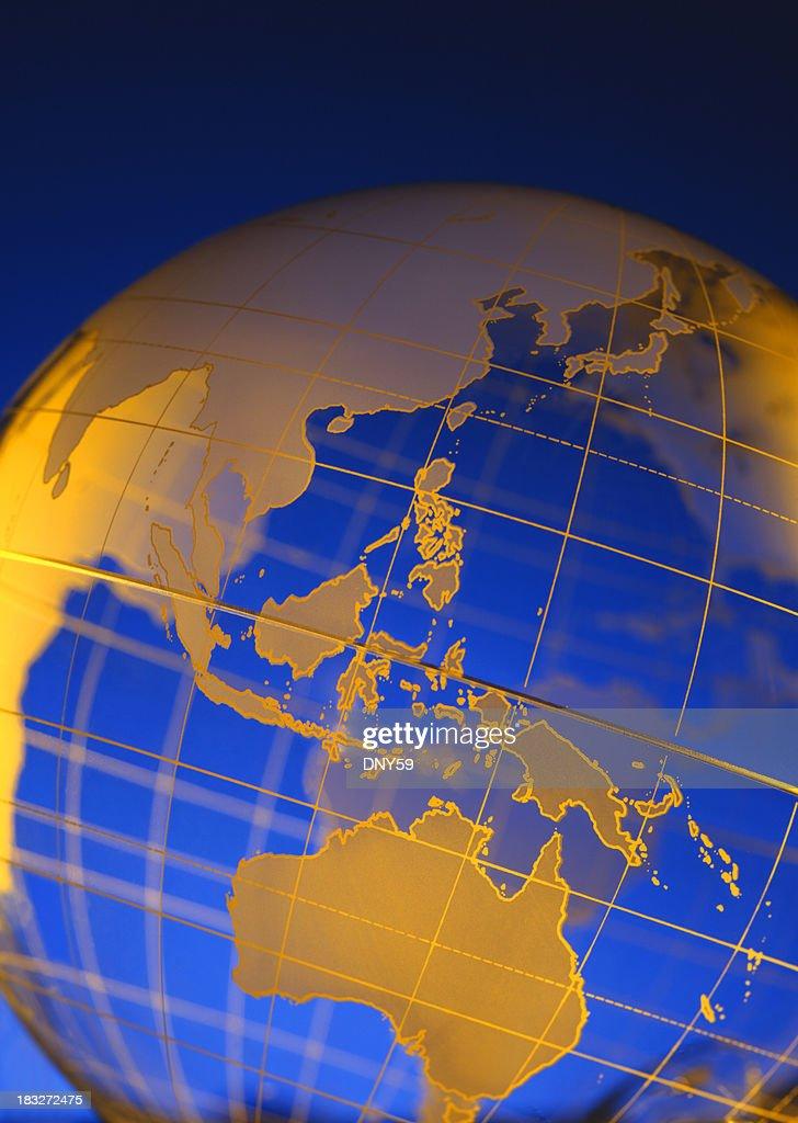 Globe-Southeast Asia & Australia : Stock Photo