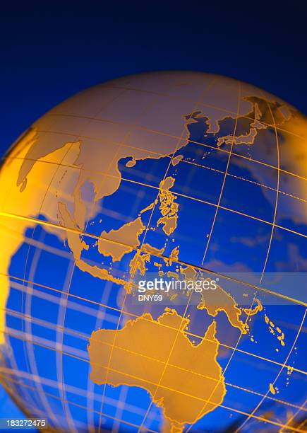 globe-southeast asia & australia - indonesia map stock photos and pictures
