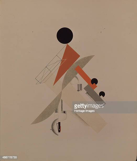 Globetrotter Figurine for the opera Victory over the sun by A Kruchenykh 19201921 Artist Lissitzky El