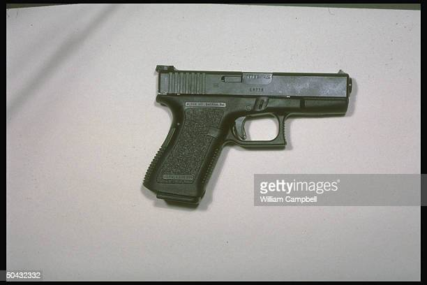 Glock 17 $550 17shot 9mm semiautomatic handgun usually police firearm also used by professional criminals made by Glock Gesmbh DeutschWagram of...