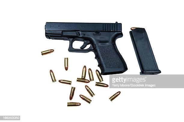 Glock Model 19 handgun with 9mm ammunition.