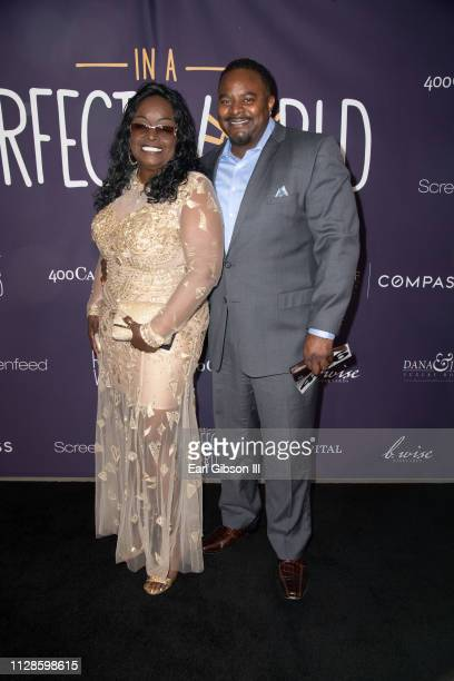 Glodean White and Kevin White attend In A Perfect World MAP Gala at The Jeremy Hotel on March 3 2019 in West Hollywood California