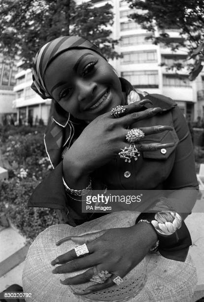 Glodean wife of American soul singer Barry White during a photocall in London to help promote her husband's British concert tour Glodean is a member...