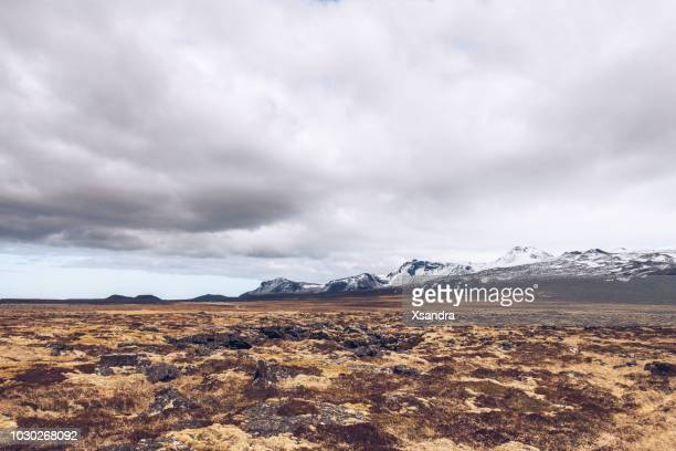 gloomy landscape, snaefellsnes peninsula, iceland - wilderness stock pictures, royalty-free photos & images