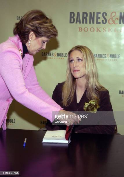 Gloria Allred and Amber Frey during Amber Frey Signs Copies of her Book Witness for the Prosecution of Scott Peterson at Barnes And Noble in New York...