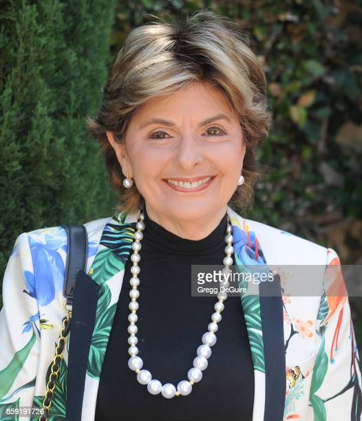 Gloria Allred arrives at The Rape Foundation's Annual Brunch at a private residence on October 8 2017 in Los Angeles California