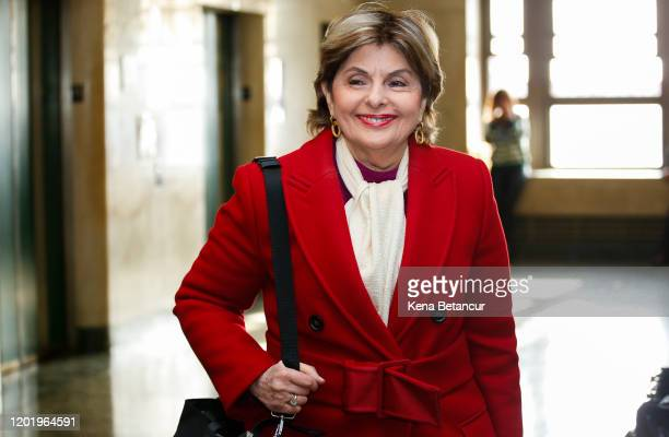 Gloria Allred arrives to the room as Jury Deliberations Begin In Harvey Weinstein Rape And Assault Trial on February 20, 2020 in New York City....