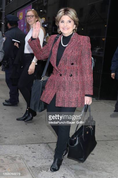 Gloria Allred at Good Morning America to talk about the Harvey Weinstein trial on February 25 2020 in New York City