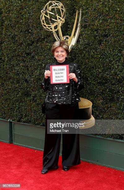 Gloria Allred attends the 45th annual Daytime Emmy Awards at Pasadena Civic Auditorium on April 29 2018 in Pasadena California